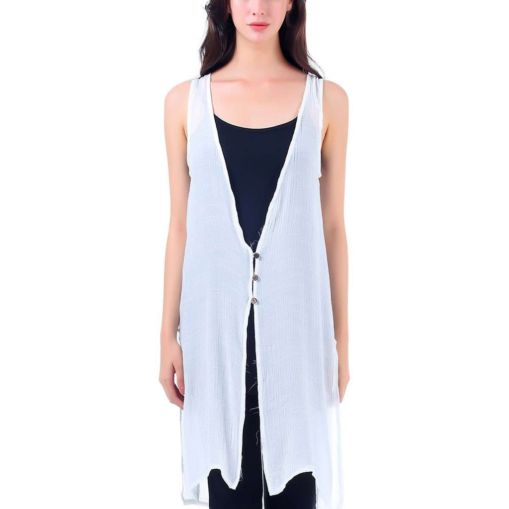 Fringe Sleeveless Vest,Outerwear,Mad Style, by Mad Style