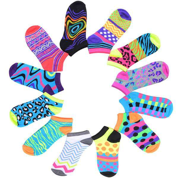 Fun Socks 12 Pieces,Footwear,Mad Style, by Mad Style