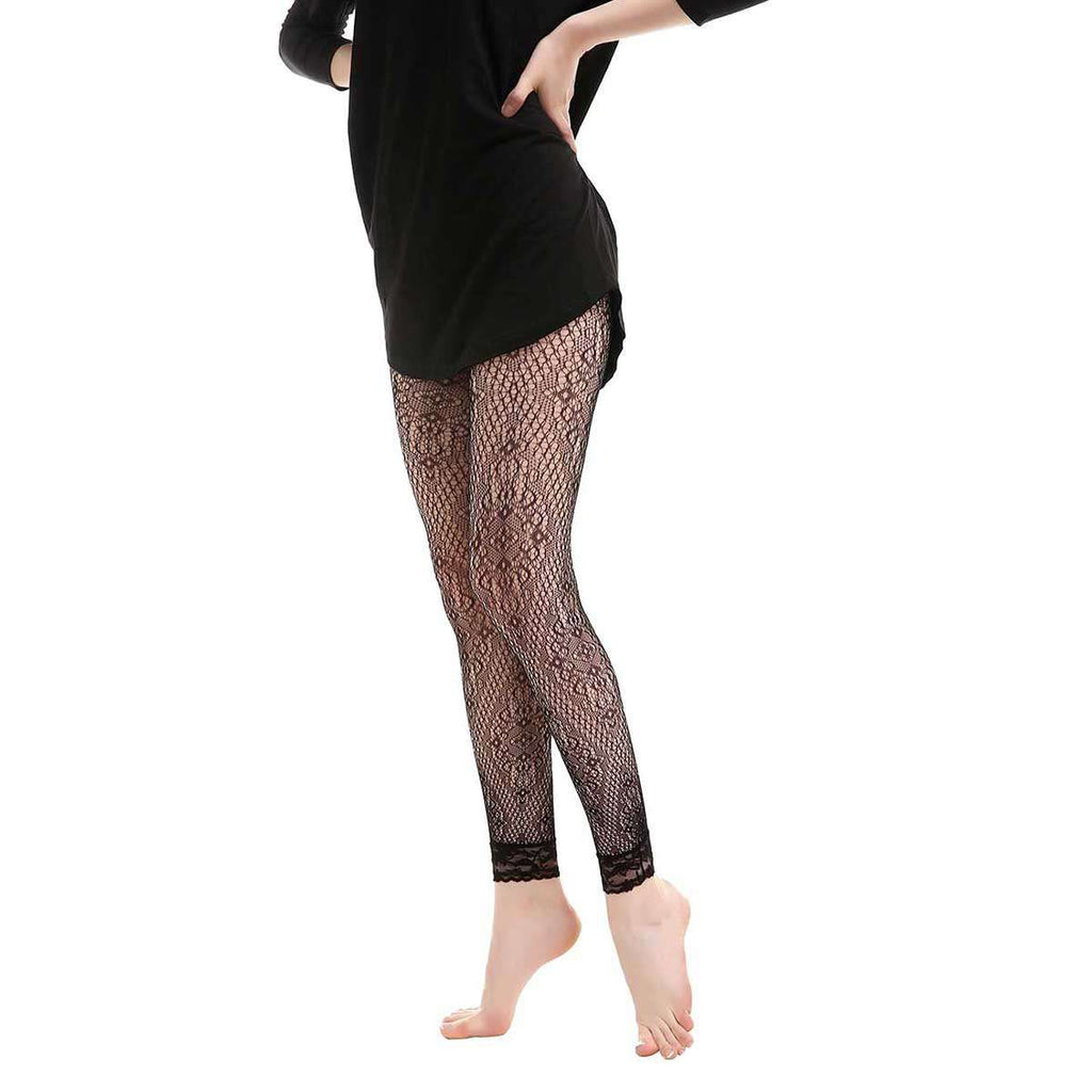 Gatsby Fishnet Abstract Leggings,Bottoms,Mad Style, by Mad Style