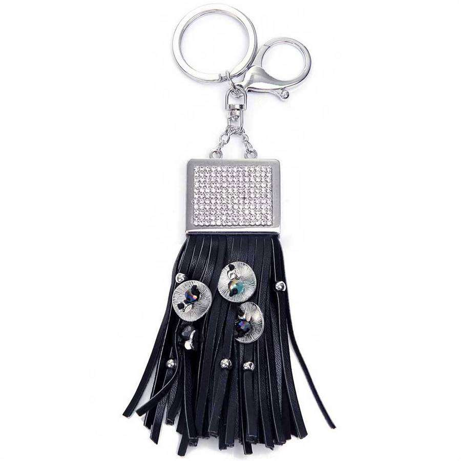 Glitz & Tassel Keychain,Key Chains and Fobs,Elly, by Mad Style