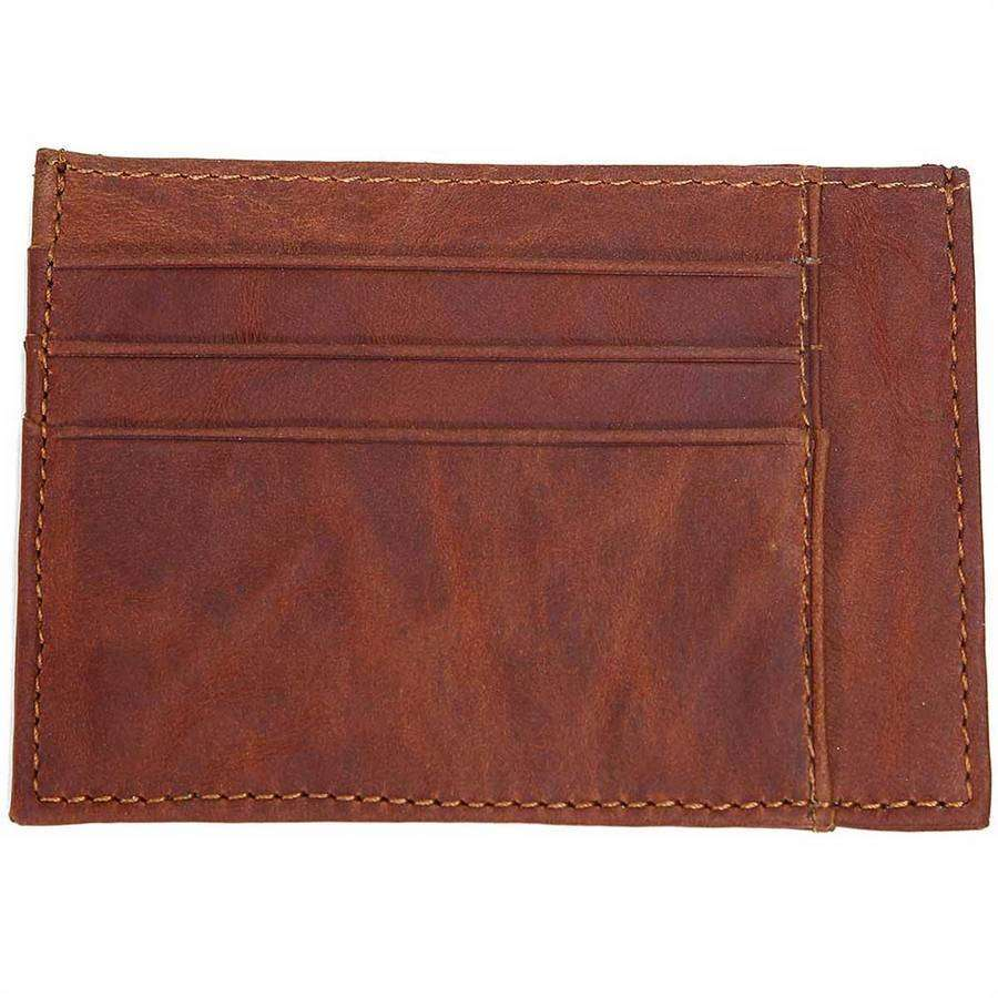 Grained Leather Two Sided Card Case,Wallets and Clips,Mad Man, by Mad Style