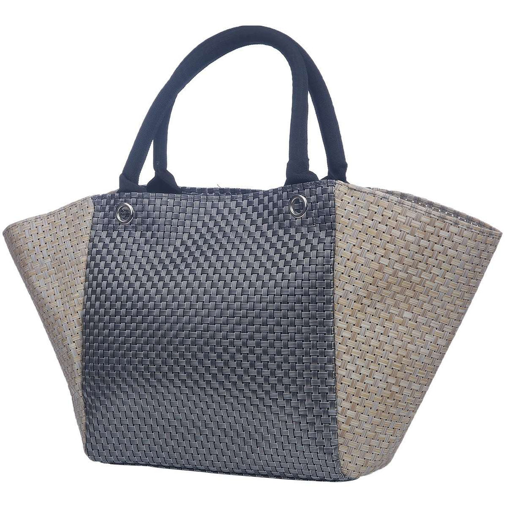 Hatch Weave Satchel Handbag