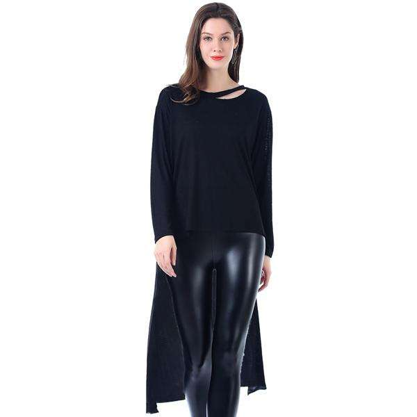 Heathered Jersey Drop Tail Jumper,Tops,Mad Style, by Mad Style