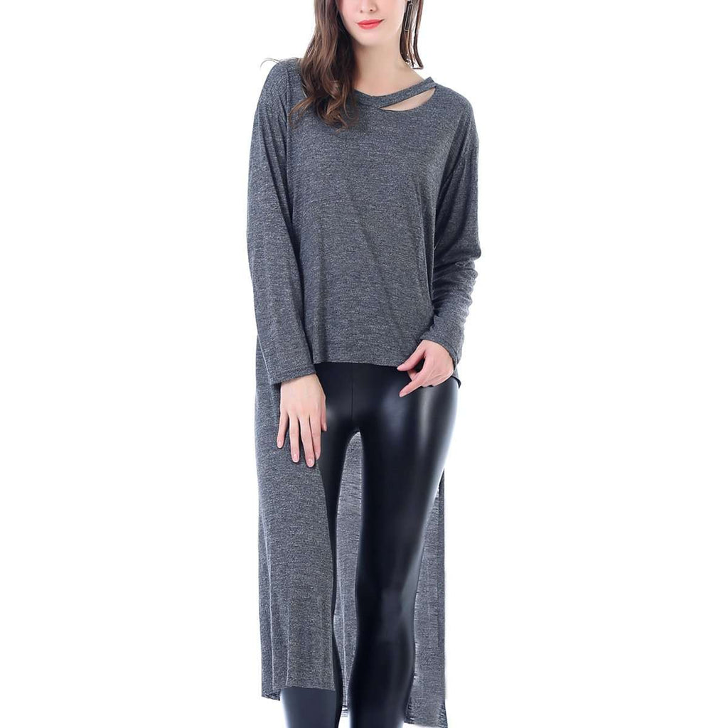 Heathered Jersey Drop Tail Jumper