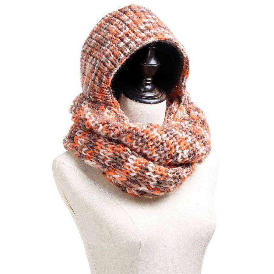 Hoodie Knit Infinity Scarf,Heavy Scarves,Mad Style, by Mad Style
