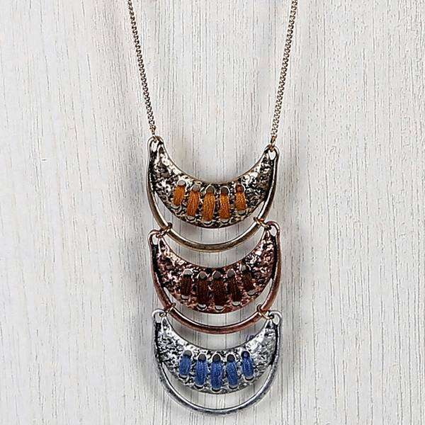 Hoop Bar Layered Necklace