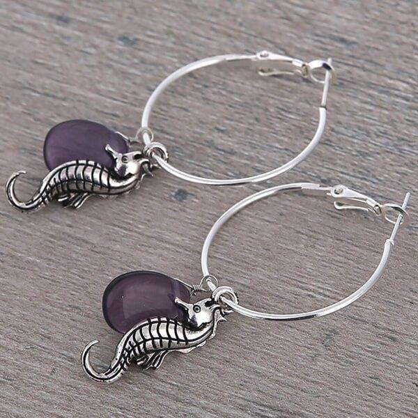 Hoop Earrings With Stones And Charms