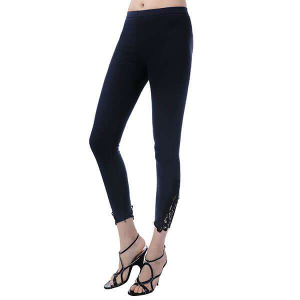 Jersey Lace Panel Leggings,Bottoms,Mad Style, by Mad Style