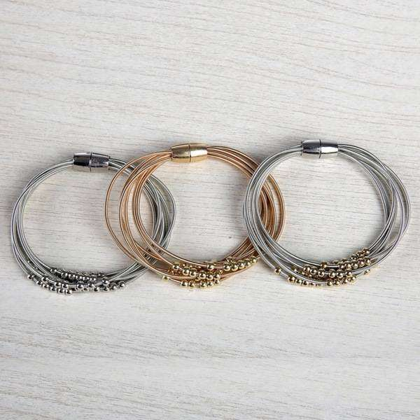 Lagos Layered Harp String Bracelet,Bracelets,Elly, by Mad Style
