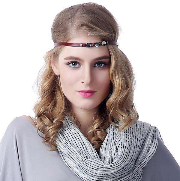 Leather Boho Headband,Hats and Hair,Mad Style, by Mad Style