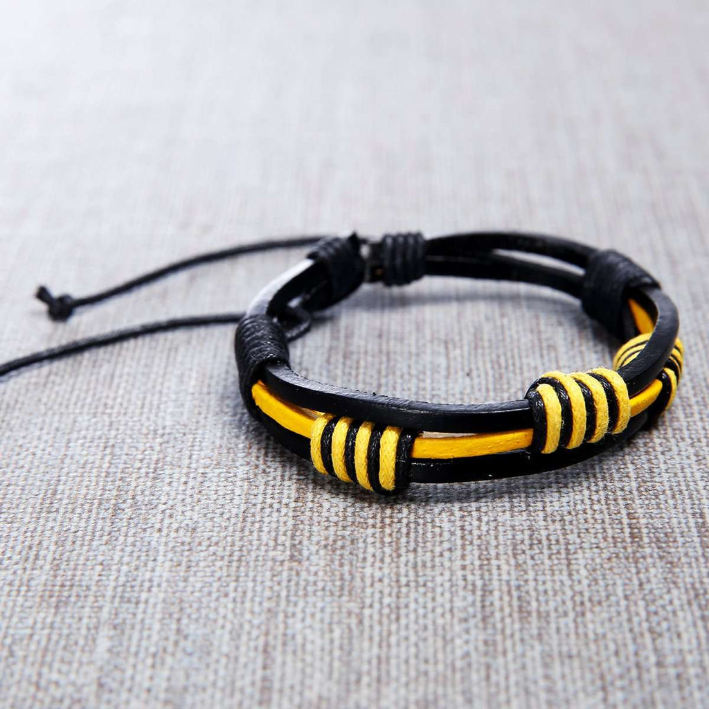 Leather Handmade Mens Bracelet,Jewelry,Mad Man, by Mad Style