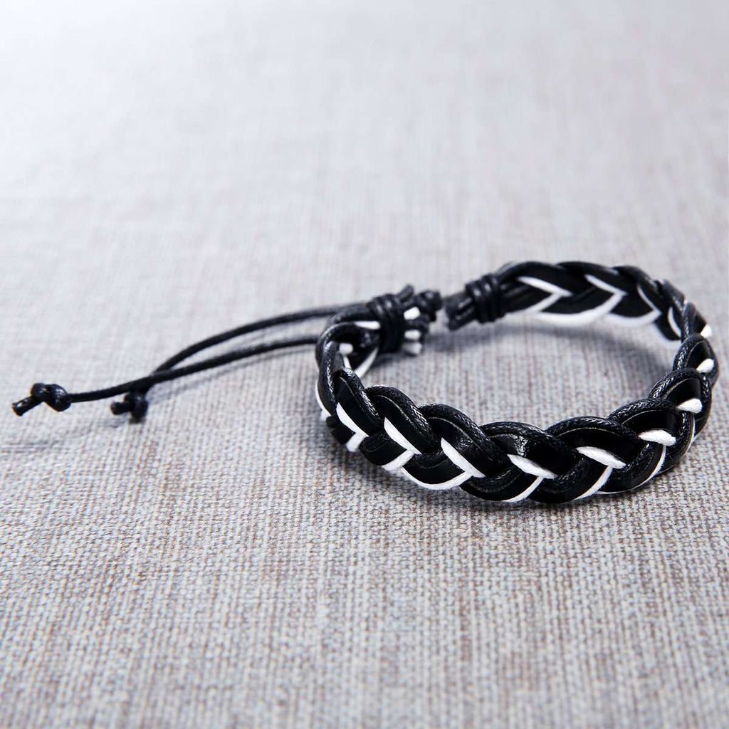 Leather Handmade Mens Bracelet