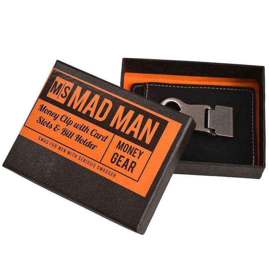 Leather Money Clip With Beer Opener,Wallets and Clips,Mad Man, by Mad Style