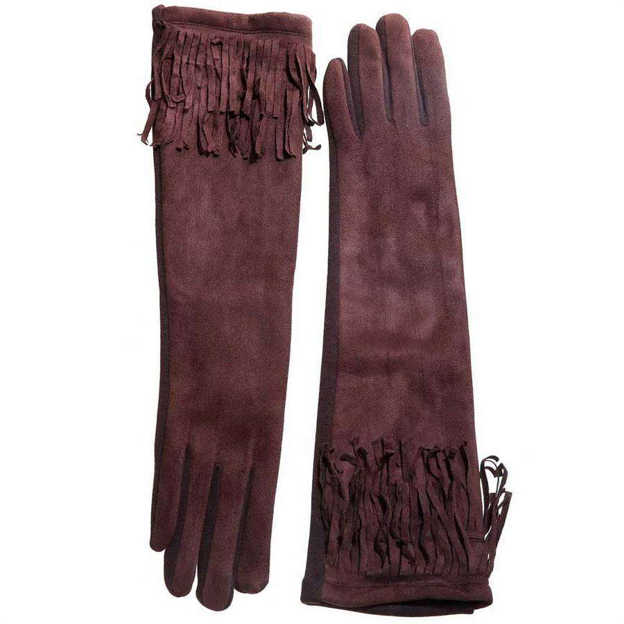 Long Fringe Texting Gloves,Winter Accessories,Mad Style, by Mad Style