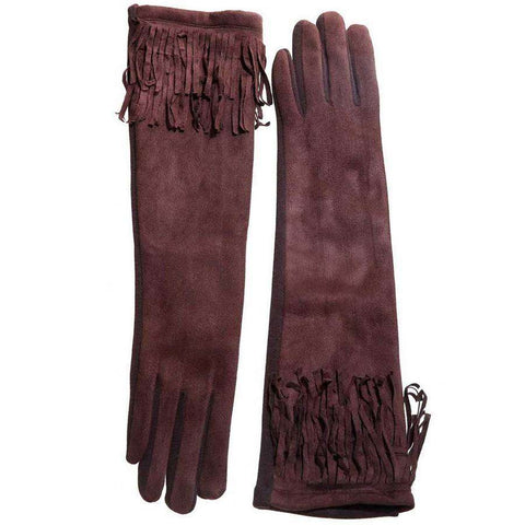 Long Fringe Texting Gloves
