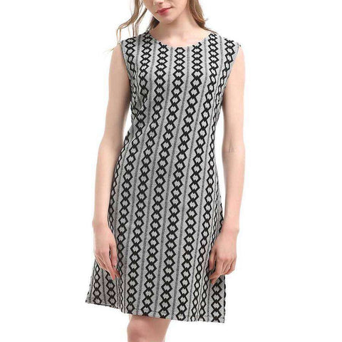 Loop Chain A-Line Dress