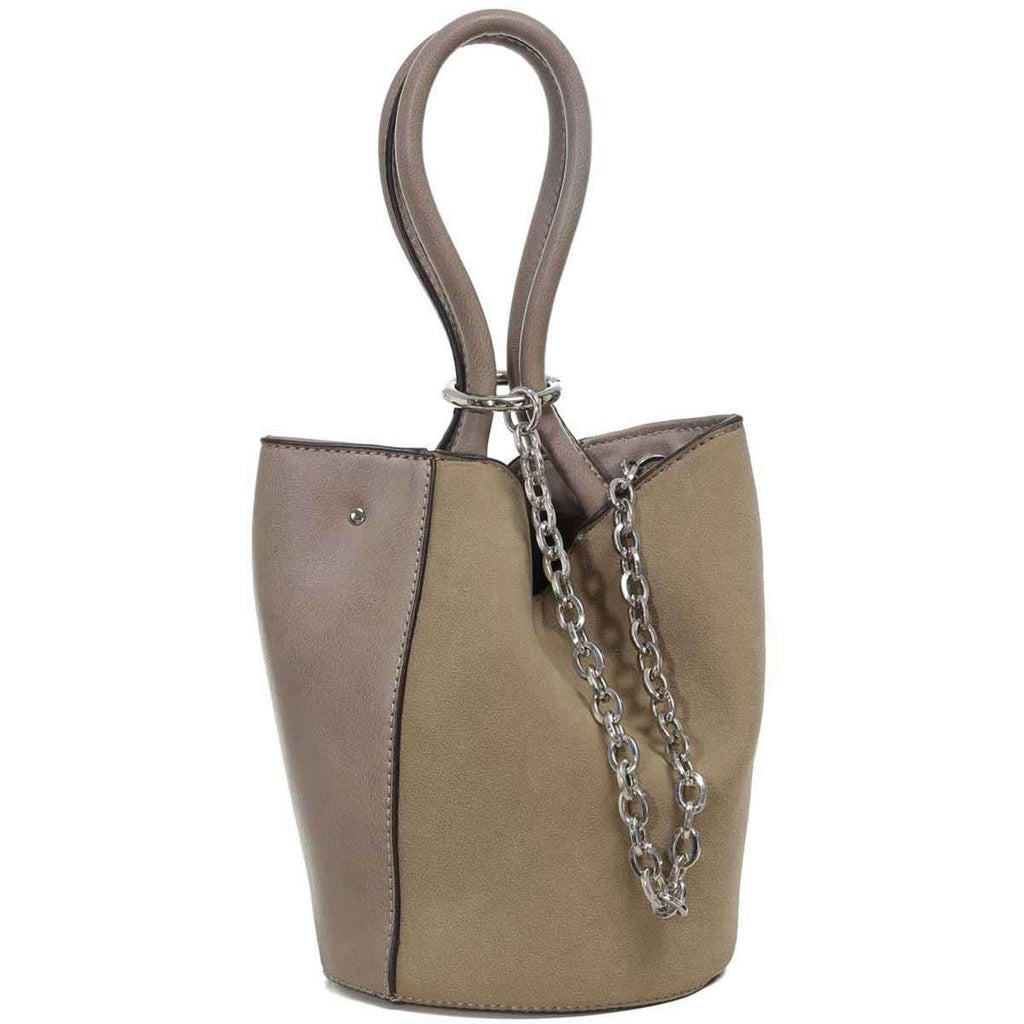 Loop Chain Bucket Bag