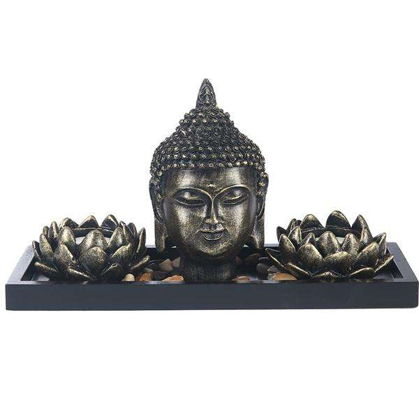 Lotus Flower And Buddha Votive Set