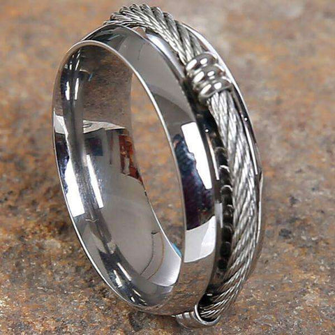 Mad Man Brent Stainless Ring