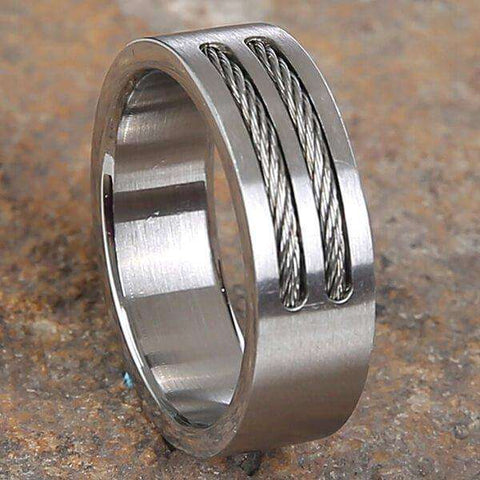 Mad Man Prescott Stainless Ring
