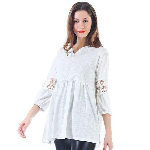 Maddi Lace Sleeve Blouse