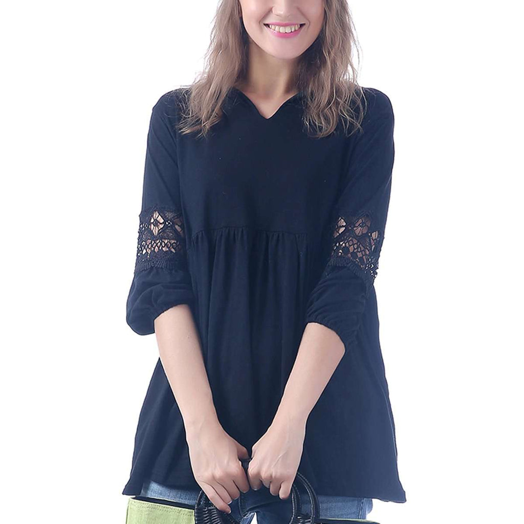 Maddi Lace Sleeve Blouse,Tops,Mad Style, by Mad Style