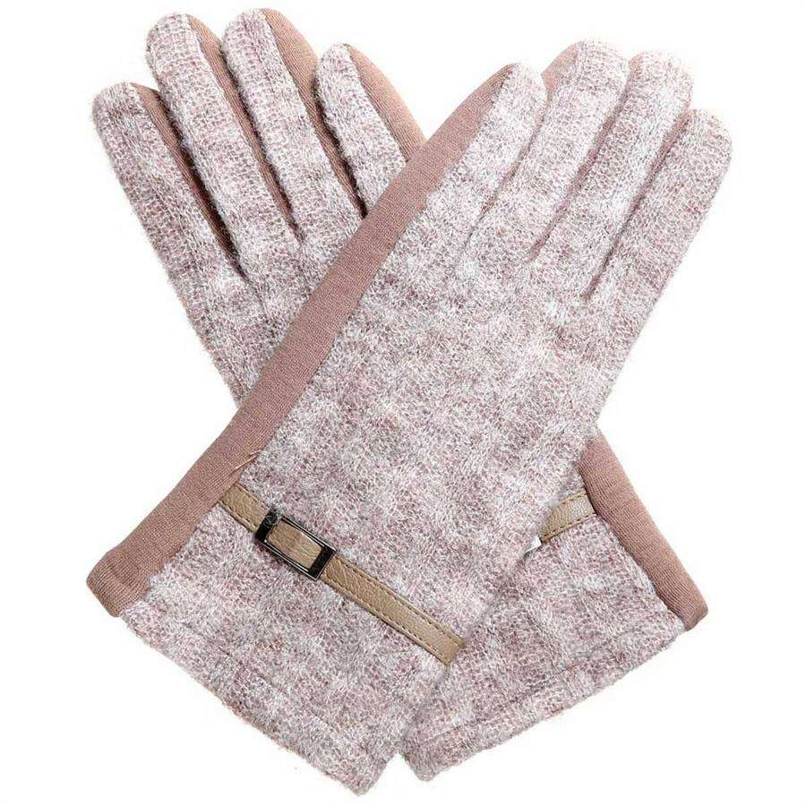 Marbled Knit Texting Gloves,Winter Accessories,Mad Style, by Mad Style