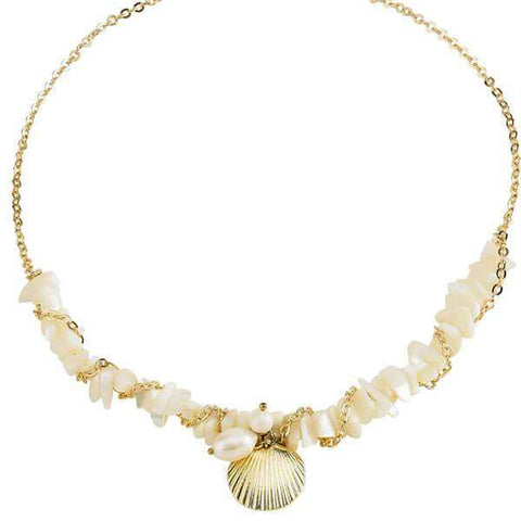Marissa Shell Necklace White