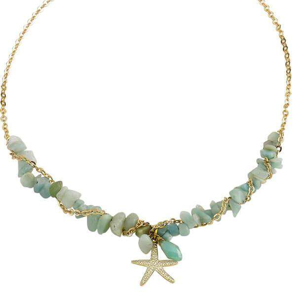 Marissa Starfish Necklace Chalcedony