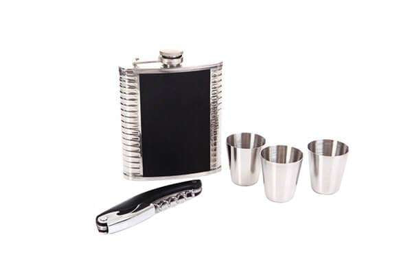 Men Stainless Flask Set,Drinkware,Mad Man, by Mad Style