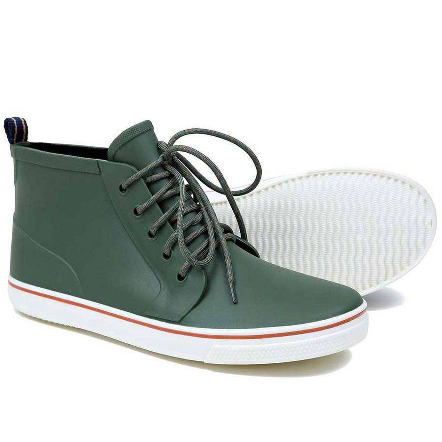 Mens High Top Rain Boots (Green),Footwear,Mad Man, by Mad Style