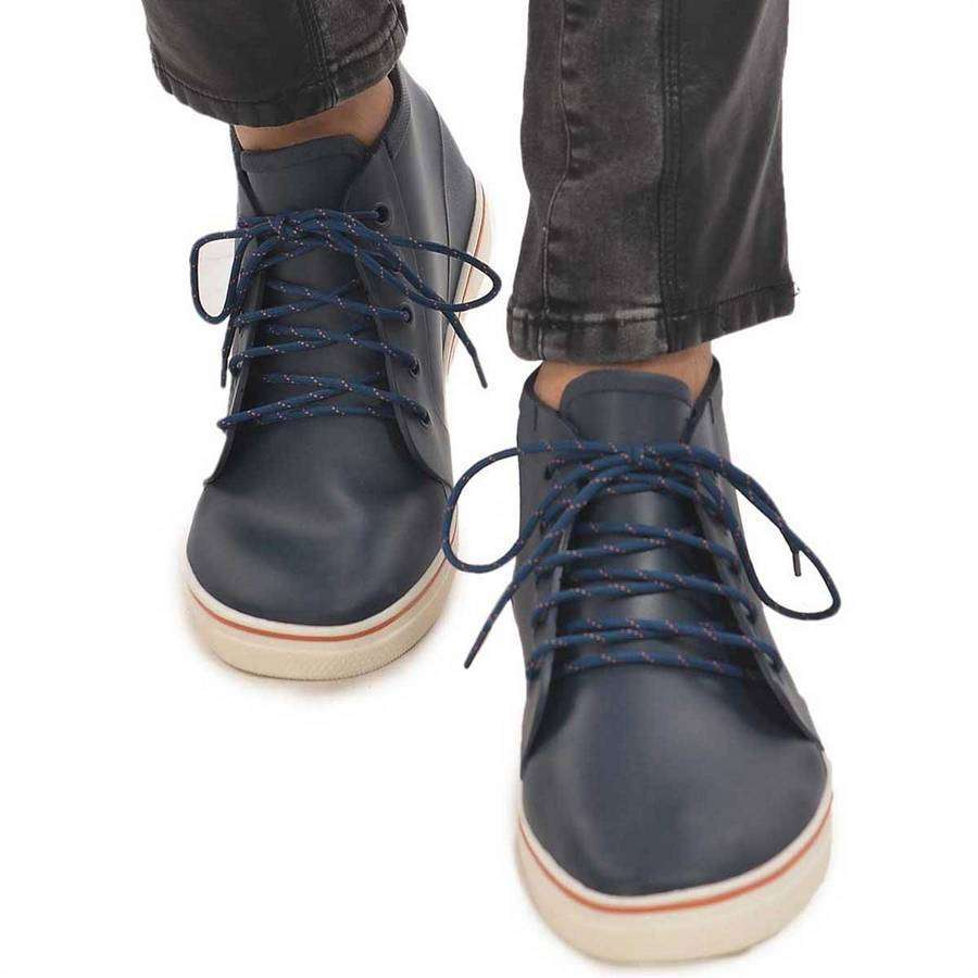 Men's High Top Rain Boots (Navy),Footwear,Mad Man, by Mad Style