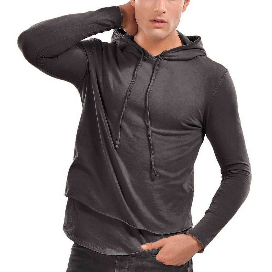 Mens Rolled Layered Hoodie