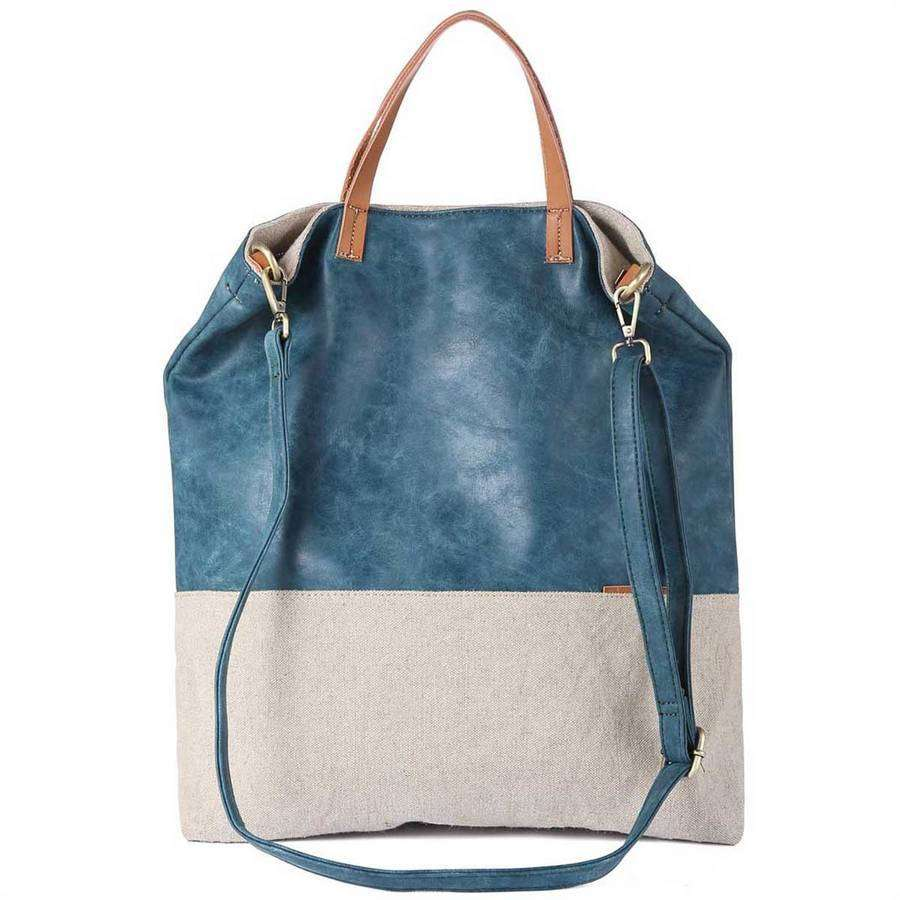 Mixed Media Slouch Tote,Totes,Mad Style, by Mad Style