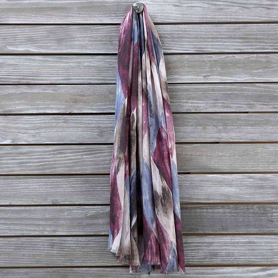 Multicolor Diamond Scarf,Heavy Scarves,Mad Style, by Mad Style