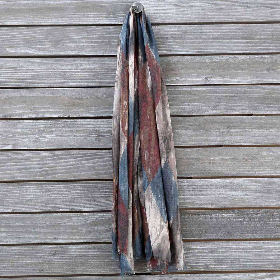 Multicolor Diamond Scarf