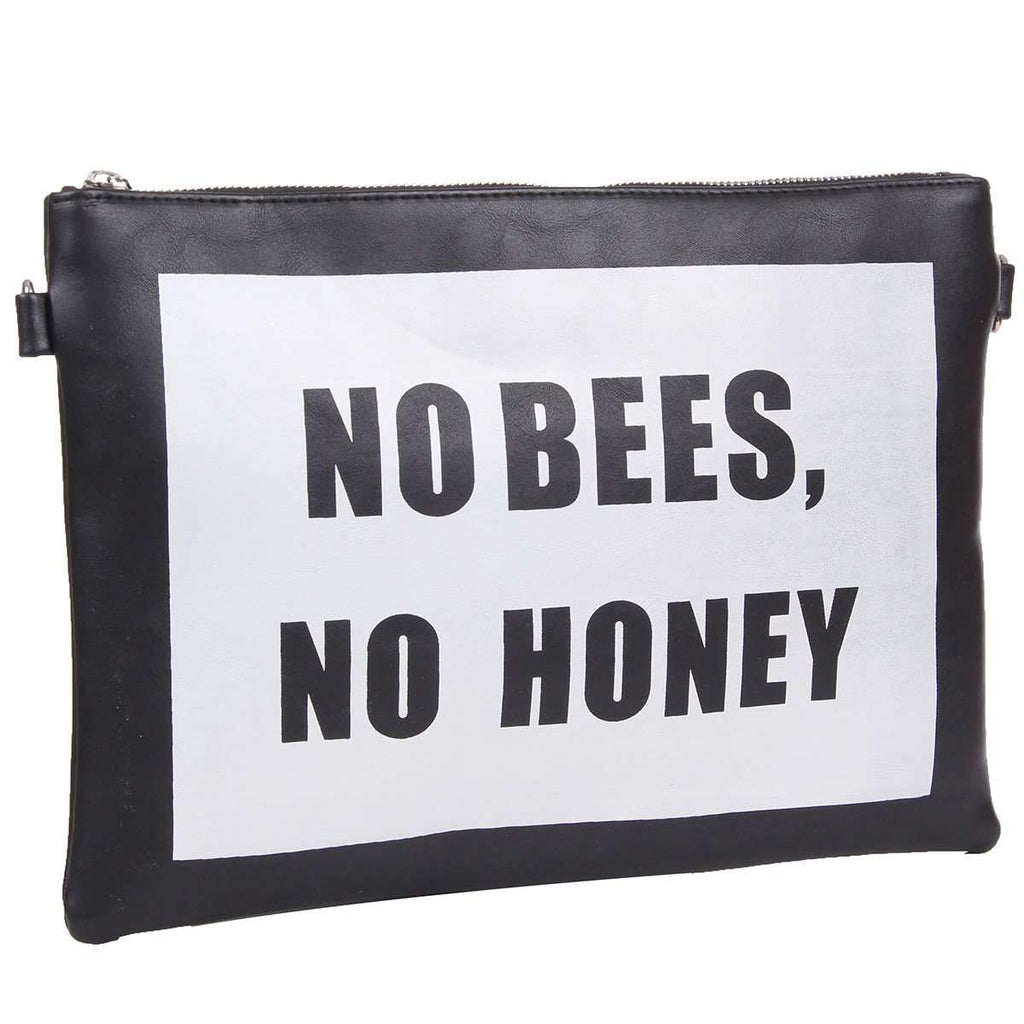 No Bees No Honey Clutch Bag,Clutches,Mad Style, by Mad Style
