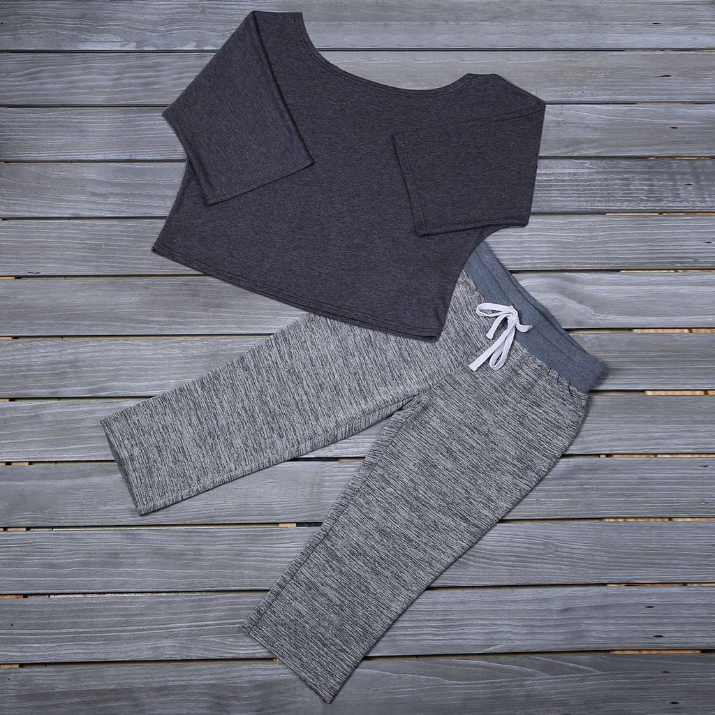 Off Shoulder Sweatshirt,Activewear,Mad Style, by Mad Style