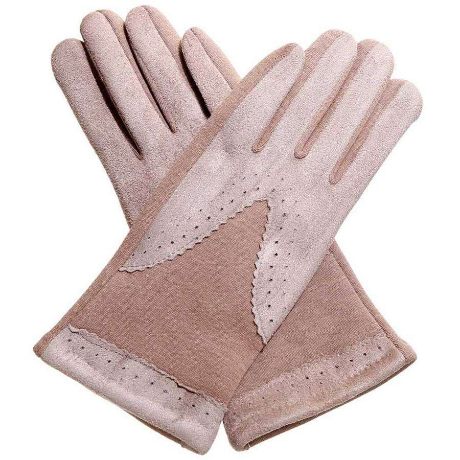 Oxford Knit & Suede Texting Gloves,Winter Accessories,Mad Style, by Mad Style