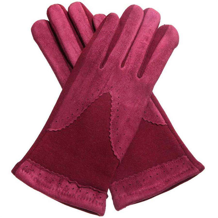 Oxford Knit & Suede Texting Gloves