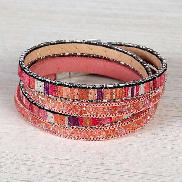 Painted Leather Wrap