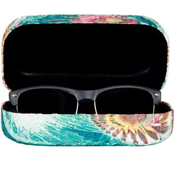 Painted Peacock Glasses Case,Eyewear,Mad Style, by Mad Style