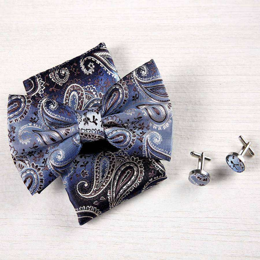 Paisley Silk Bow Tie Box Set,Ties,Mad Man, by Mad Style