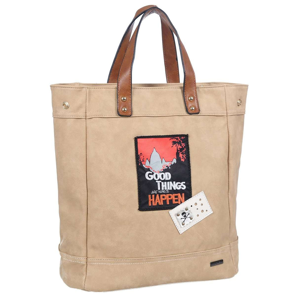 Patched Knapsack Handbag,Totes,Mad Style, by Mad Style