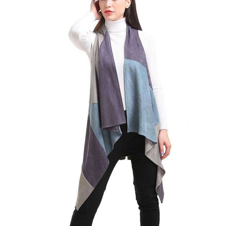 Patchwork Long Vest,Outerwear,Mad Style, by Mad Style