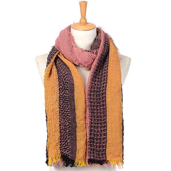 Peach Twill Scarf,Light Scarves,Mad Style, by Mad Style