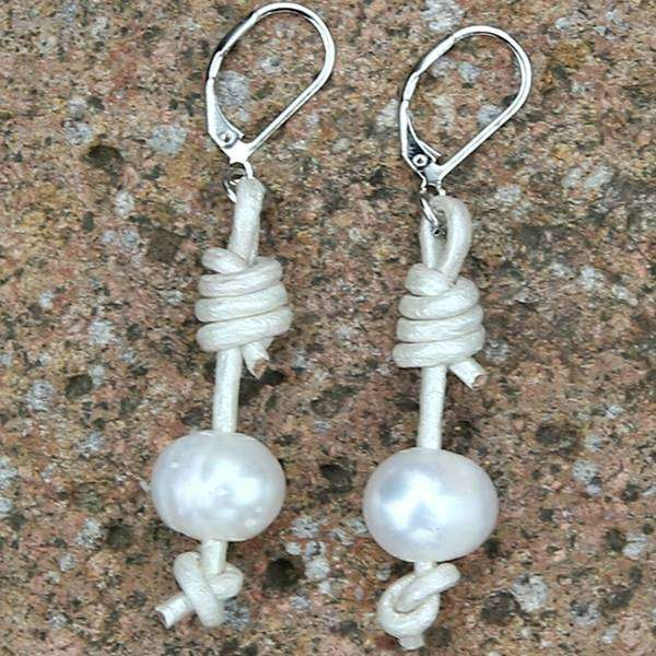 Pearl Barbell Earrings,Earrings,Elly, by Mad Style