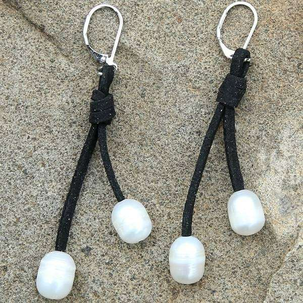 Pearl Dewdrop Earrings,Earrings,Elly, by Mad Style