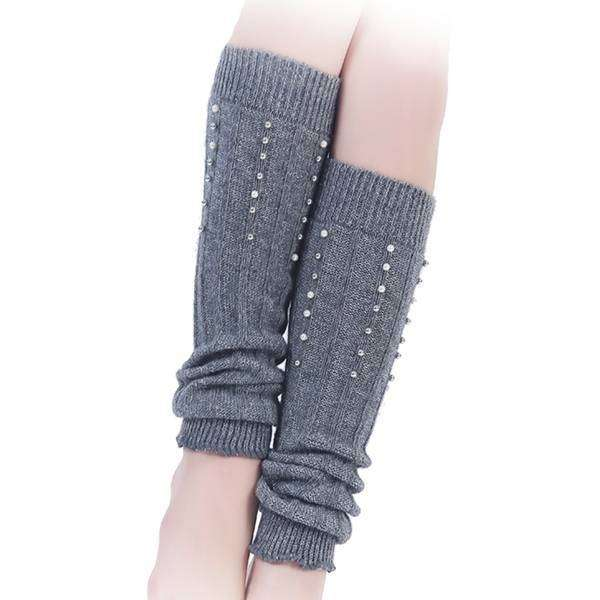 Pearls on Knit Leg Warmers,Bottoms,Mad Style, by Mad Style