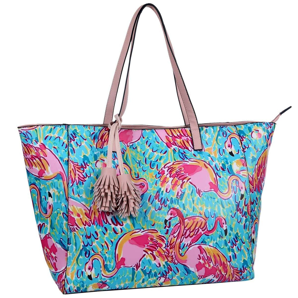 Pink Flamingo Vivid Tote Bag